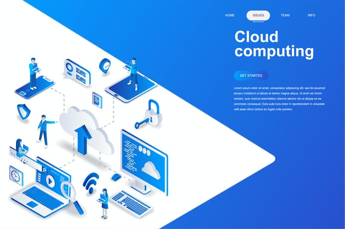 Thumbnail for Cloud Computing Isometric Concept