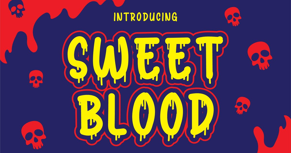 Download Sweet Blood - Horror Typeface by Blankids