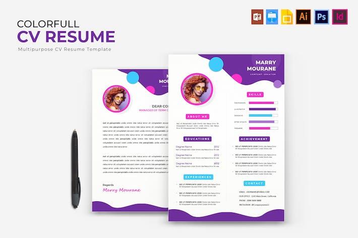 Thumbnail for Colorfull | CV Resume