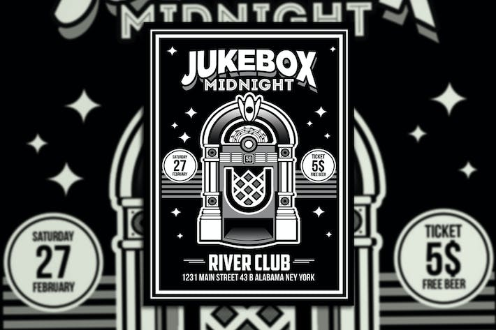 Thumbnail for Jukebox Midnight Poster Flyer