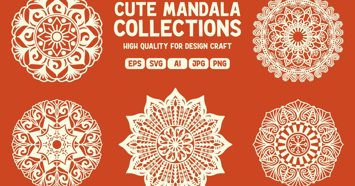 Download 5 Cute Mandala Collections by garisman