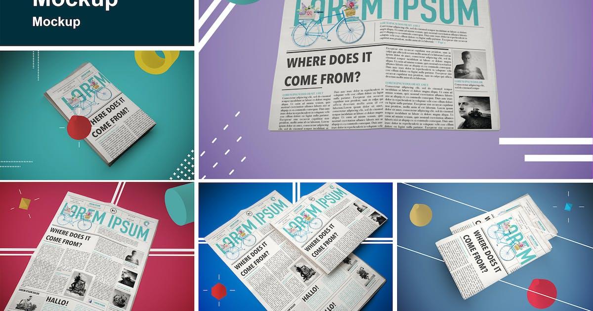 Download Abstract Newspaper MockUp by QalebStudio