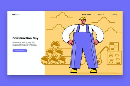 Construction Guy - Banner & Landing Page