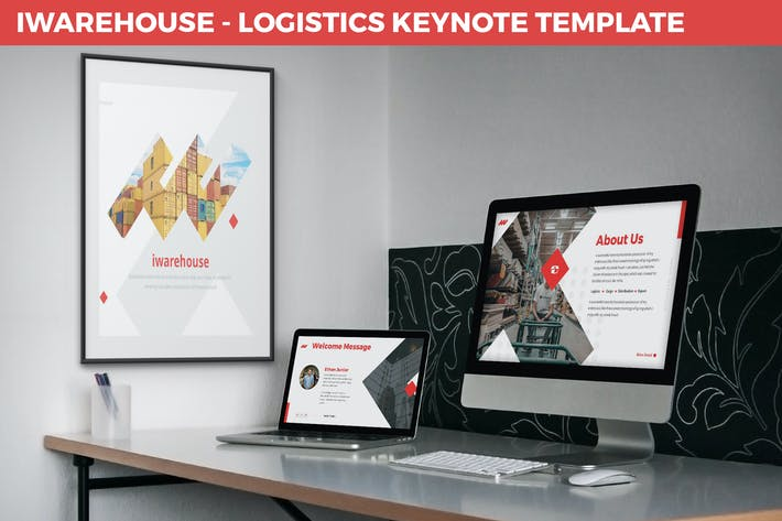 Thumbnail for iWarehouse - Logistics Keynote Template