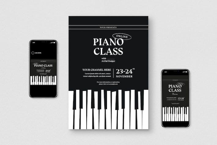 Online Piano Class Flyer