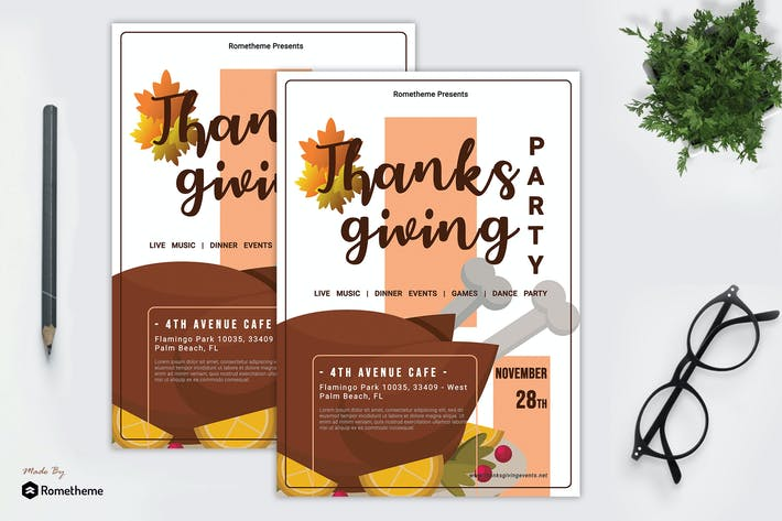 Thumbnail for Thanksgiving Party Flyer vol. 01