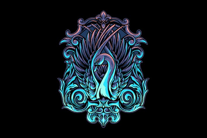 Thumbnail for Swan with Ornament