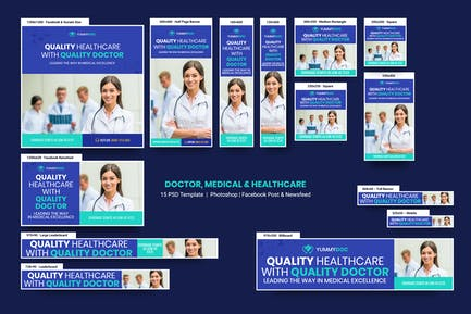 Doctor, Medical & Healthcare Banners Ad
