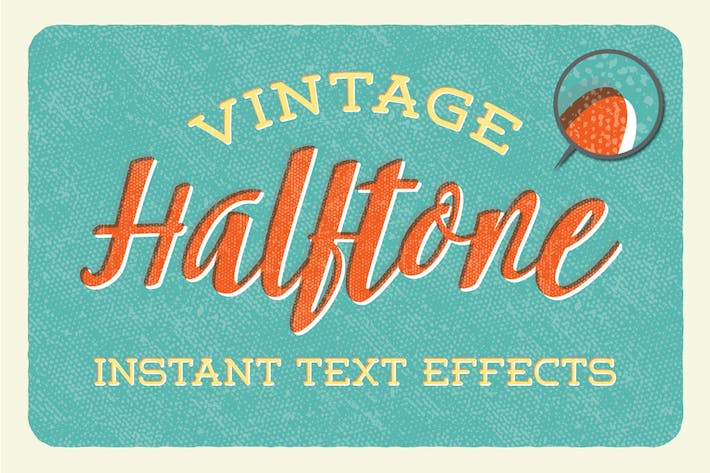 Thumbnail for Vintage Halftone  - Instant Text Effects