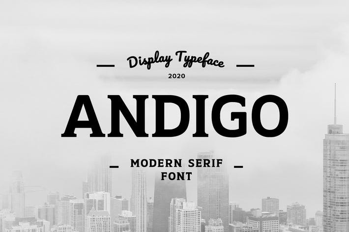 Thumbnail for Andigo Display Serif Font