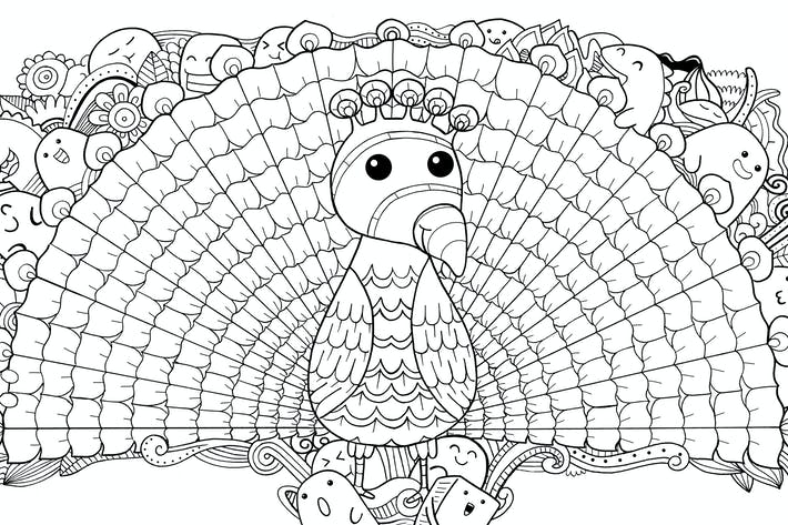 Thumbnail for Peacock Doodle