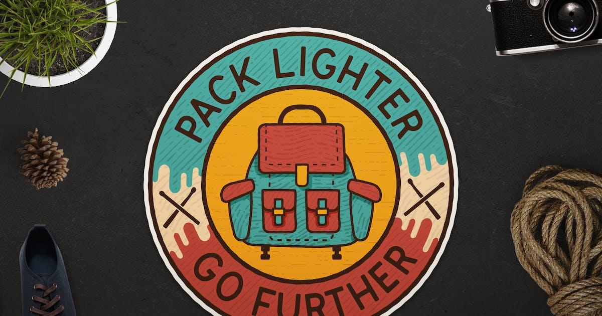 Download Retro Adventure Badge / Vintage Travel Logo by JeksonJS
