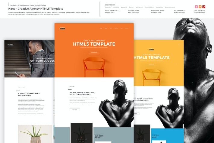 Thumbnail for Kana - Creative Agency HTML5 Template