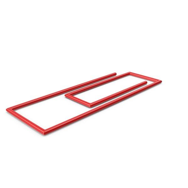 Красный клип для бумаги