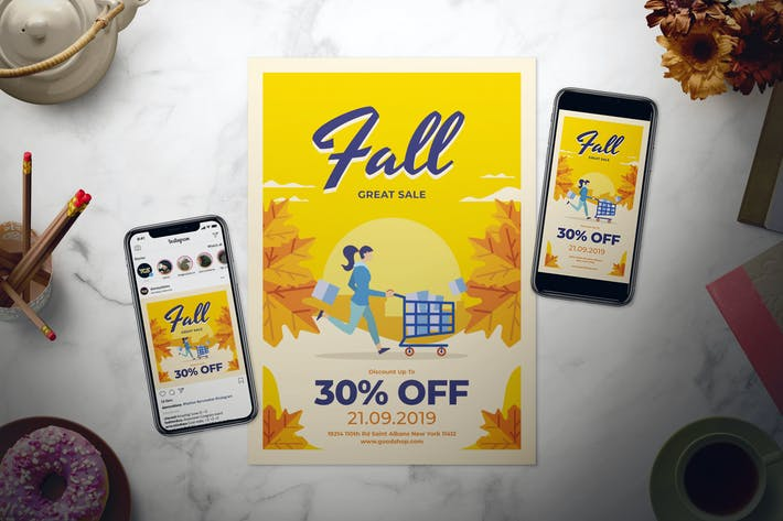 Thumbnail for Fall Sale Flyer Set