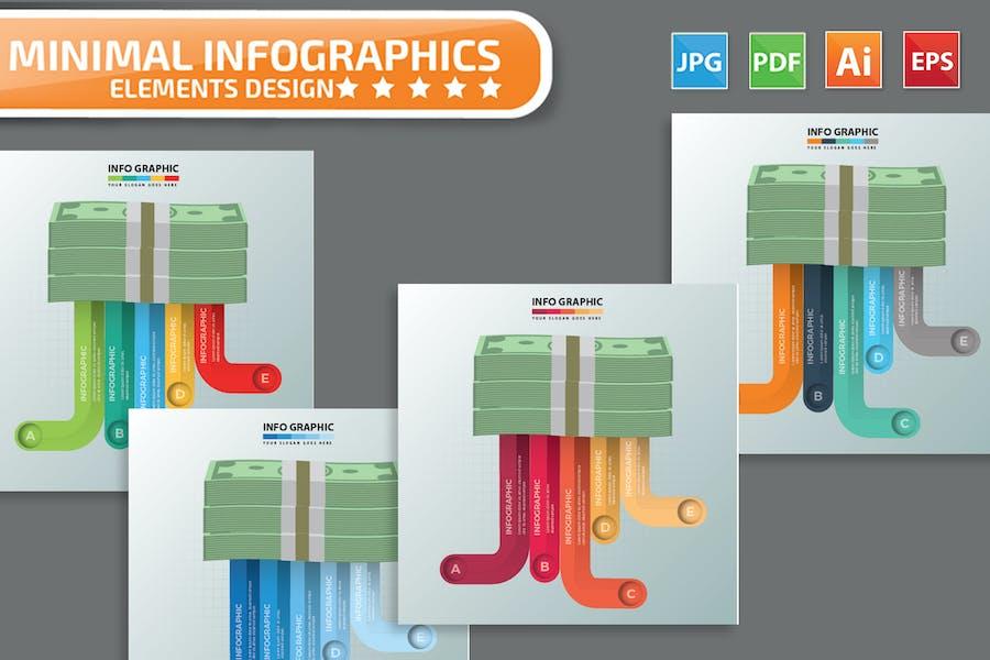 Money infographic Design