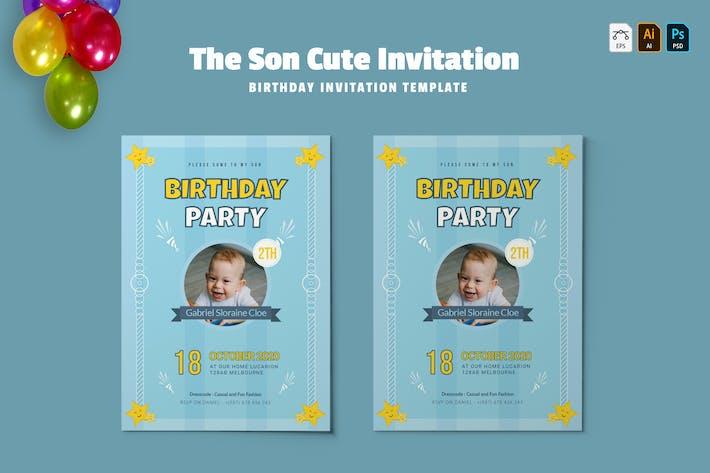 Thumbnail for Fils mignon   Invitation d'anniversaire