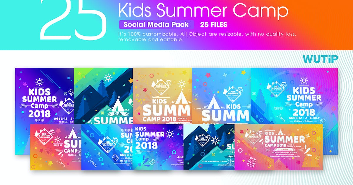 Download Kids Summer Camp-Social Media Pack by Unknow