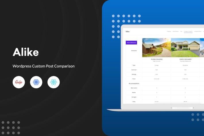 Thumbnail for Alike - WordPress Custom Post Comparison