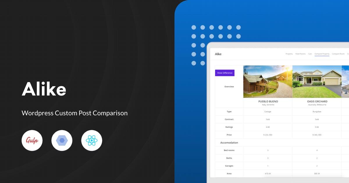 Download Alike - WordPress Custom Post Comparison by redqteam