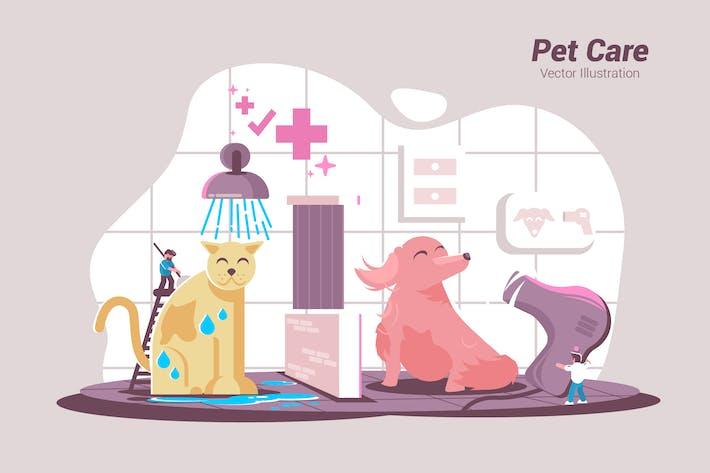 Thumbnail for Уход за животными - Вектор иллюстрация