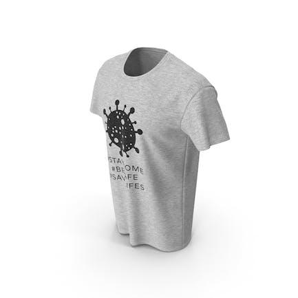 Camiseta de cuello redondo para hombre Coronavirus mensaje