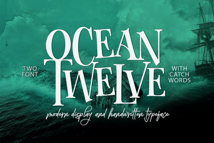 Thumbnail for Ocean Twelve Font Duo + Extras