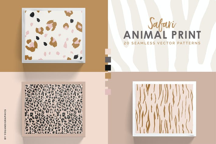 Safari - Animal Print Seamless Vector Patterns