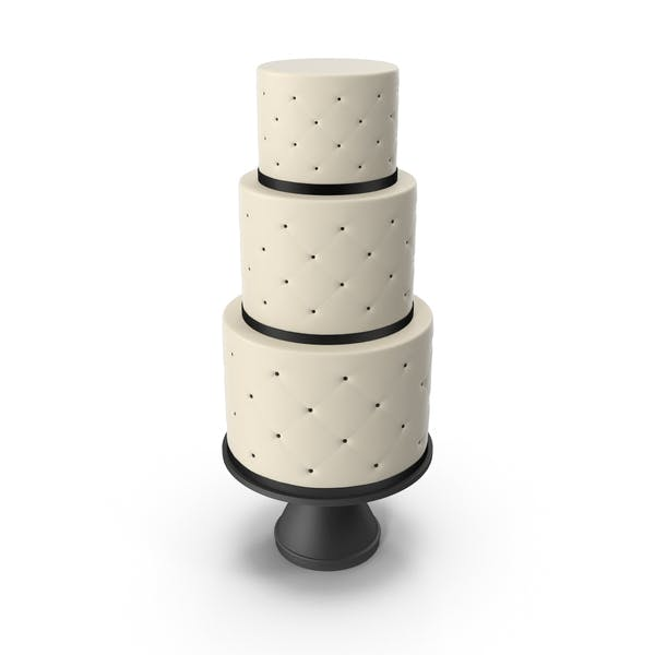 Thumbnail for Cascade Cake with Decor of Black Ribbon