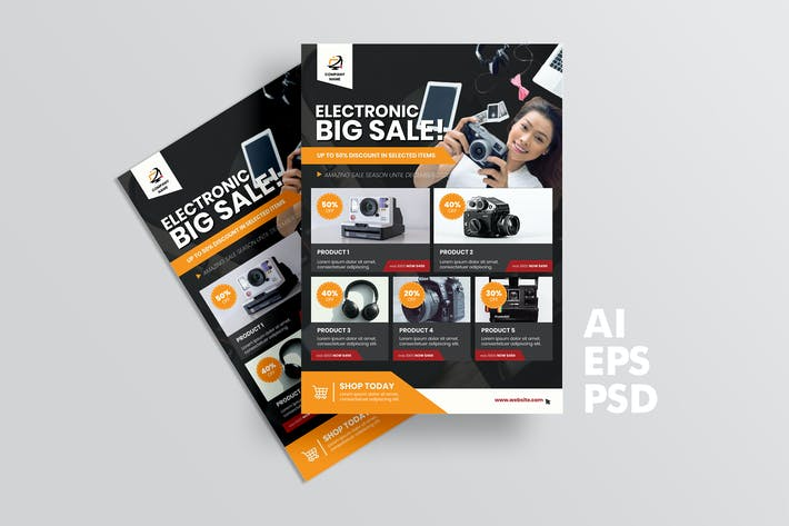 Thumbnail for Electronic Store Catalog Flyer Design