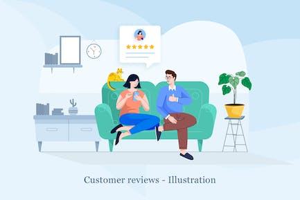 Customer Review Illustration