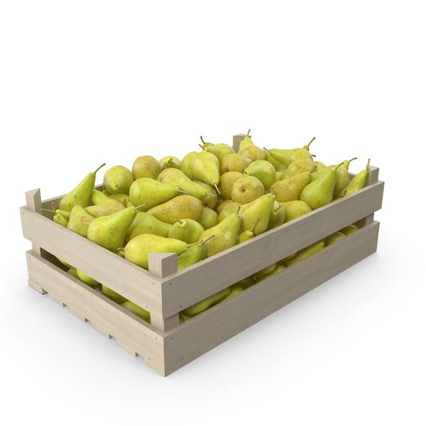 Pear Conference Wooden Crate
