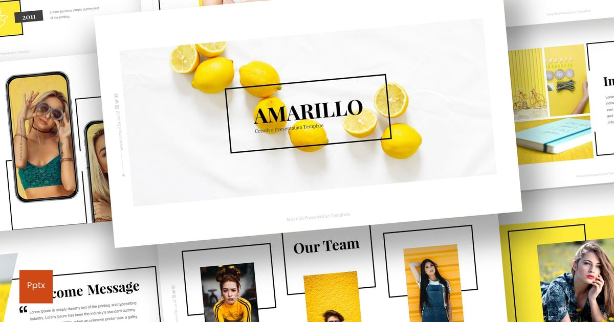 Download Amarillo - Powerpoint Template by inspirasign