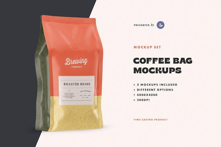Thumbnail for Set of Coffee Bag Mockups