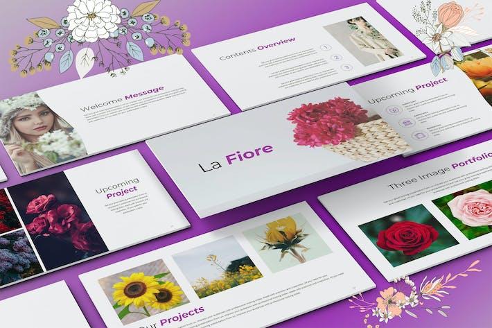 Thumbnail for La Fiore - Elegant Google Slide Presentation