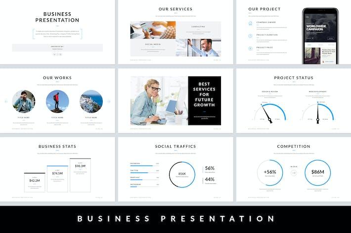 Thumbnail for Business Presentation Google Slides Template