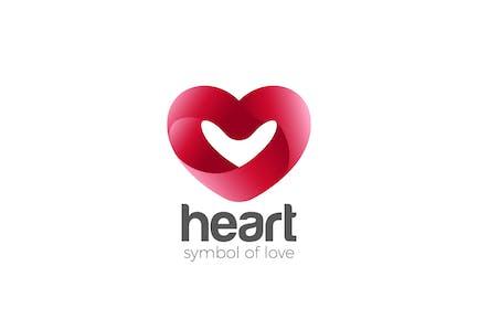 Logo Heart symbol of Love