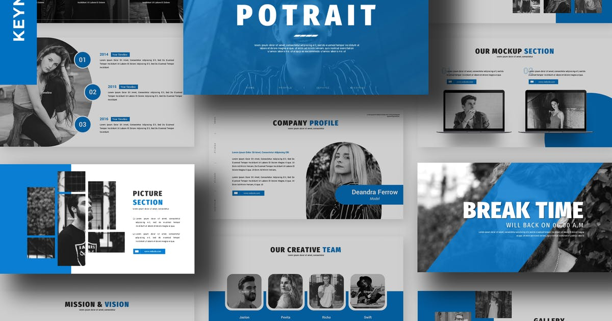 Download Potrait - Business Keynote Template by 83des