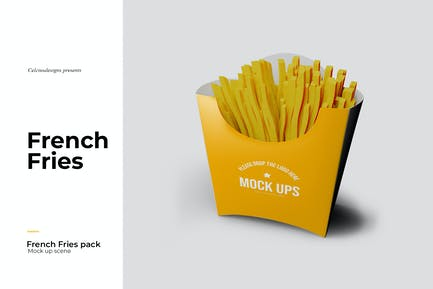 French Fries Pack Mockup