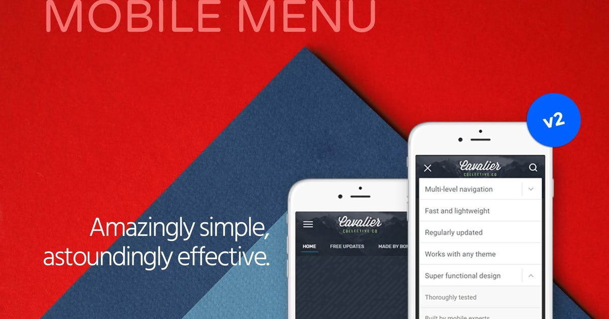 Download Tactile: WordPress Mobile Menu by BonfireThemes