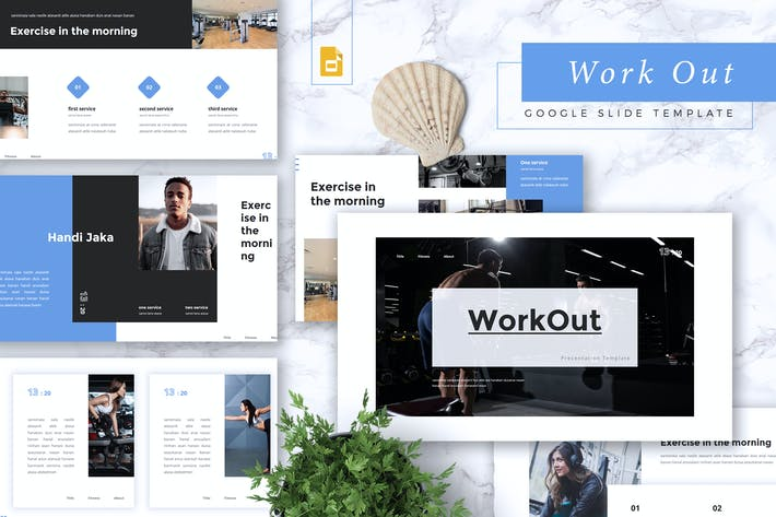 Thumbnail for WORKOUT - Gym & Fitness Google Slides Vorlage