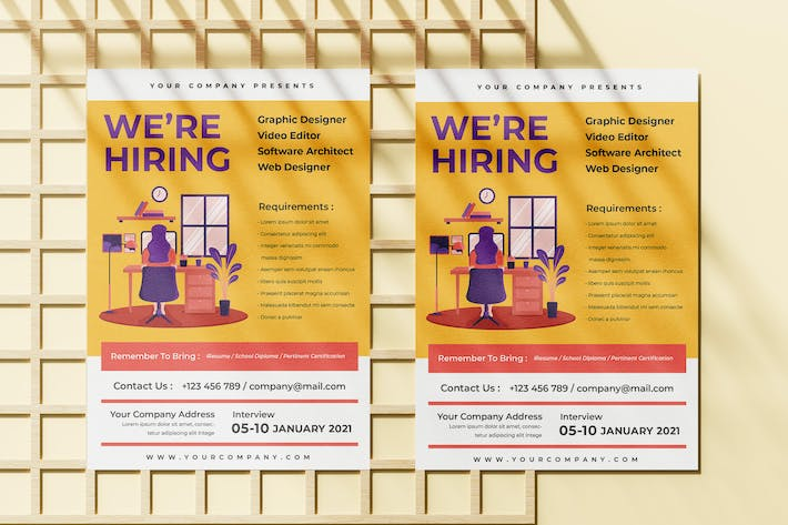 Thumbnail for Job Vacancy Flyer