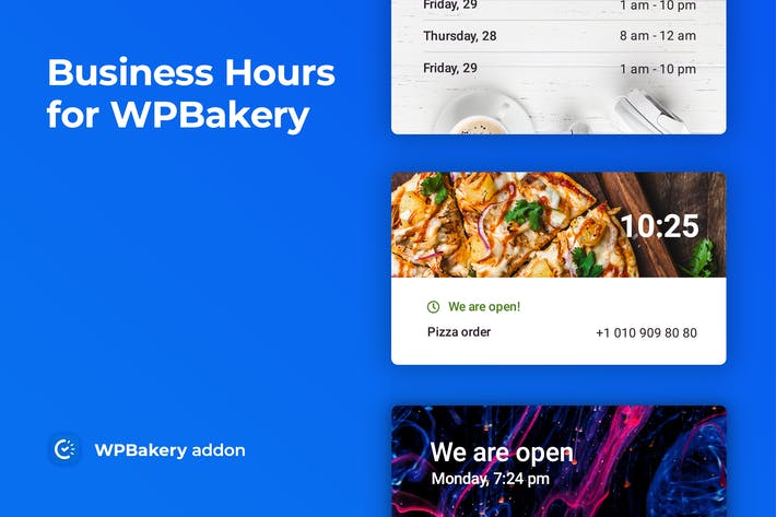 Business Hours for WPBakery