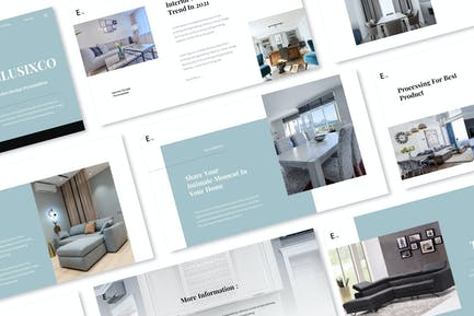 Exclusixco - Interior Design Google Slides Present