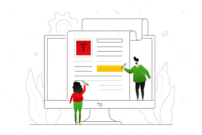 Thumbnail for Copywriting - flat design style illustration
