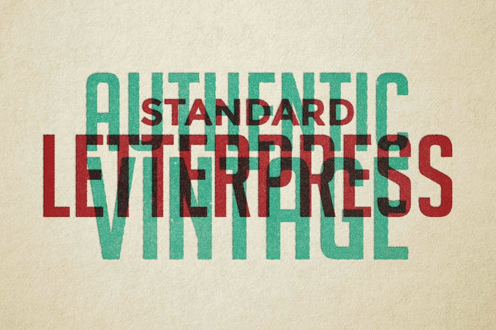 Thumbnail for Vintage Letterpress Texture Effects