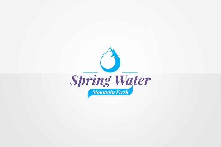 Thumbnail for Spring Water Logo Template