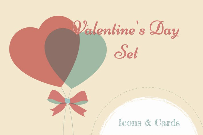 Valentine's Day Set: Icons & Cards