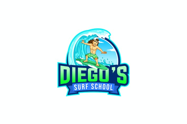 Thumbnail for diego's Surf School Logo