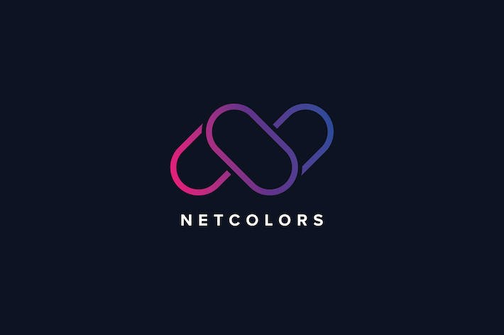 Thumbnail for N Letter Colors Logo Template